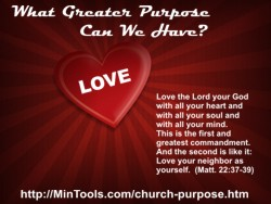 Our Greatest Purpose to Love