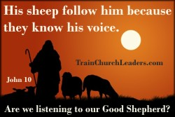 His Sheep Know His Voice - Listening to God