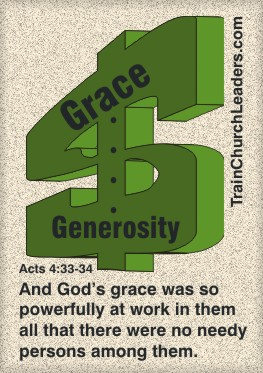God's Grace Affects Giving, Leads to Generosity