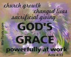 Grace Powerfully at Work in Record Keeping & Reporting