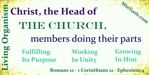 Church as Living Organism Has Organization