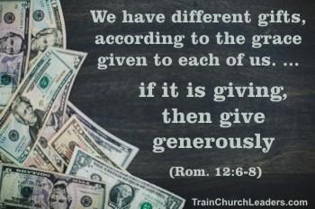 Spiritual Gift of Giving & Church Finances