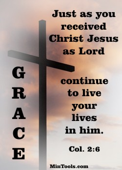 Grace in Church Discipline because it's how We Live in Him