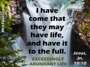Christ-like Intent for Abundant Life