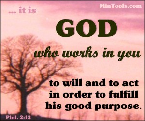 God works in you