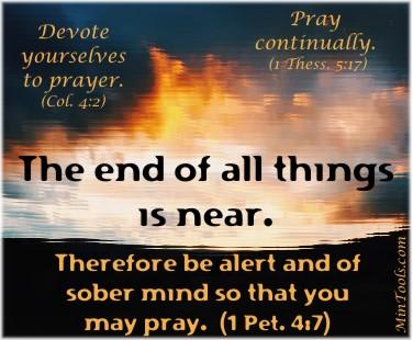 Prayer-Based Scheduling Needed in Last Days